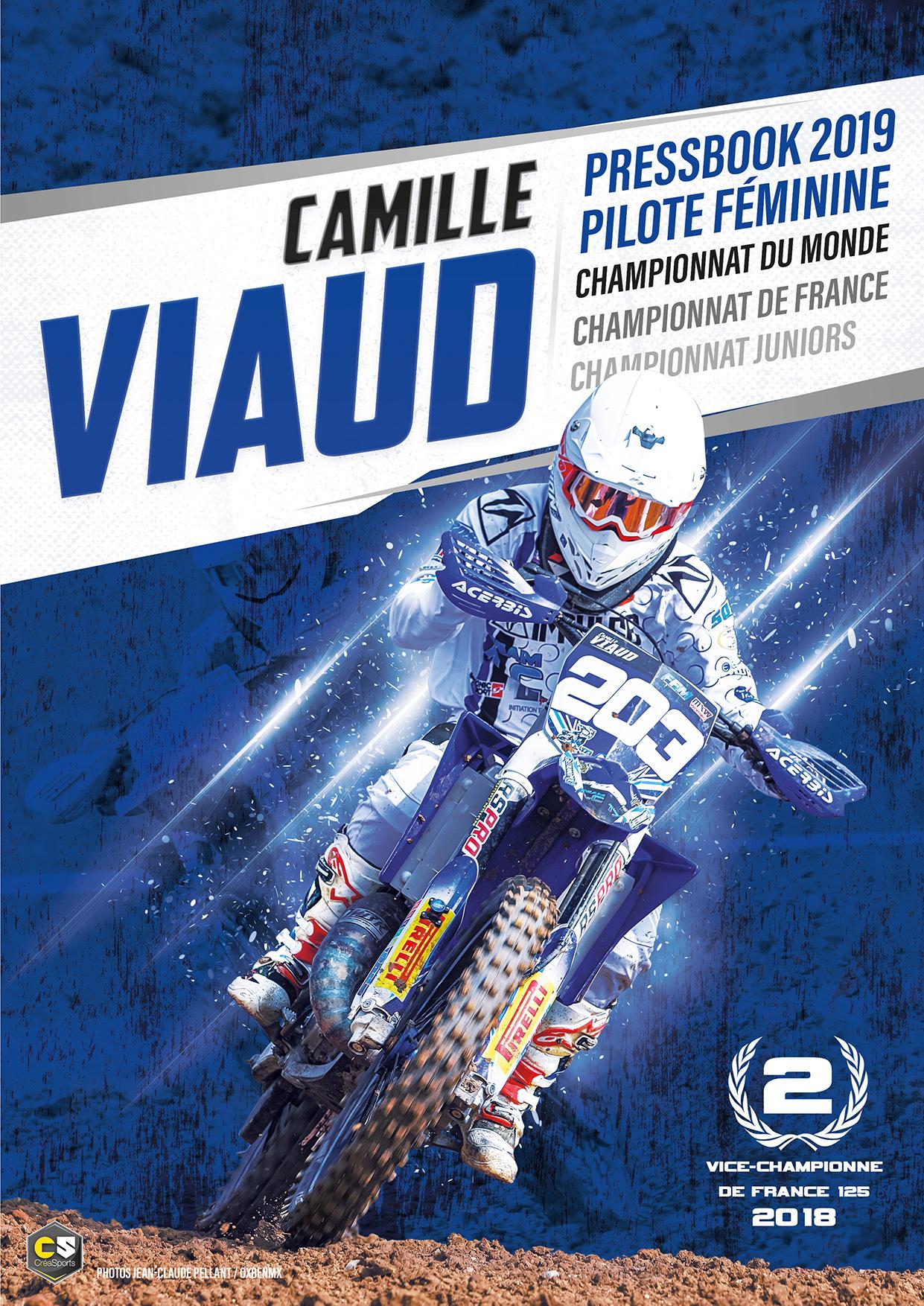 pressbook motocross féminin camille viaud